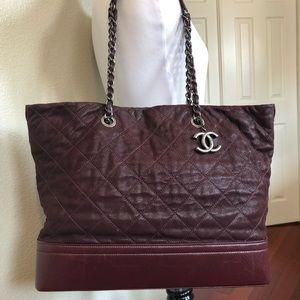 Chanel Large Shopping- 30cm Plum (burgundy) Color